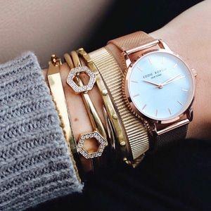 New Eddie Borgo Women's Rose Gold Soho Wristwatch